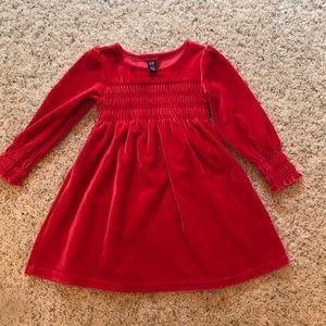 Red velvet baby Gap dress. Size 3